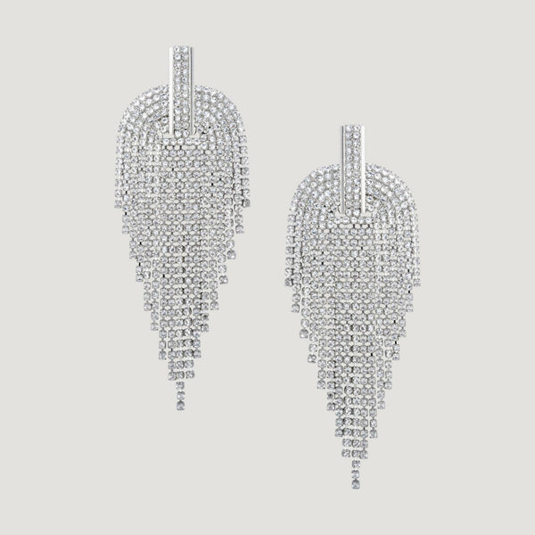 Crystal Art Deco Shower Earrings