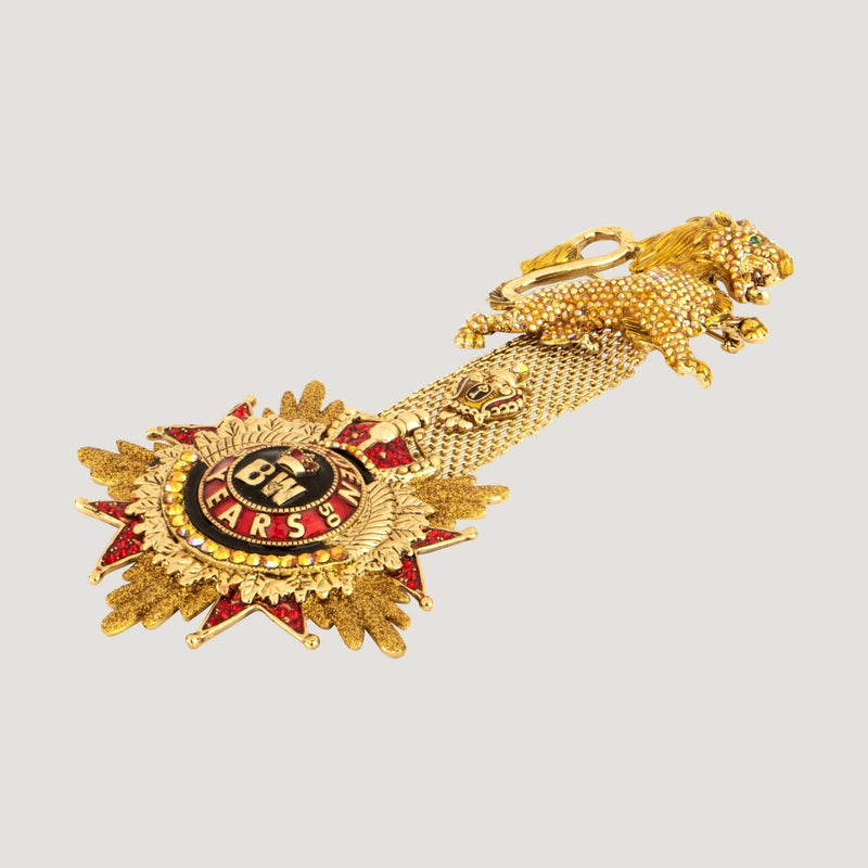 Crystal Lion 50 Golden Years Brooch