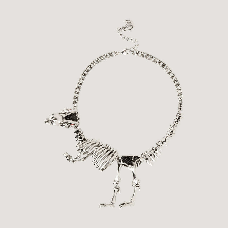 Dinosaur Skeleton Chain Necklace