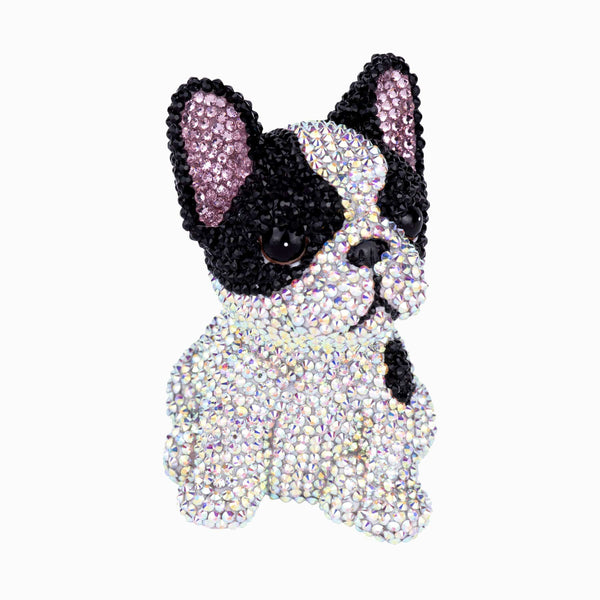 Crystal Encrusted French Bulldog Home Decoration