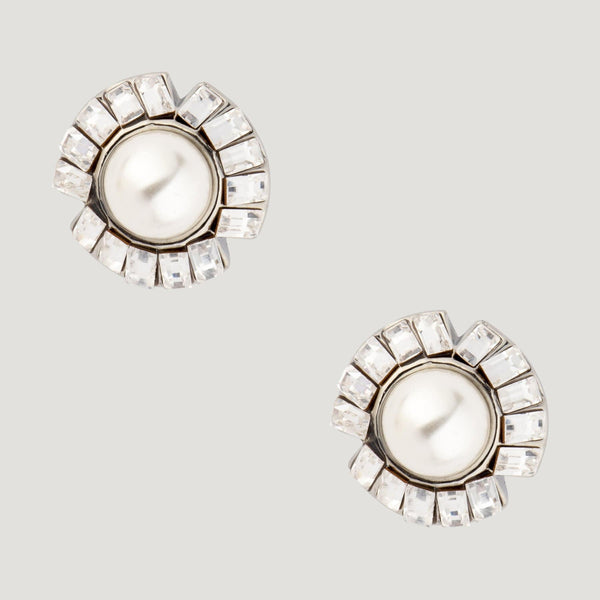 Baguette Crystals Stud Earrings