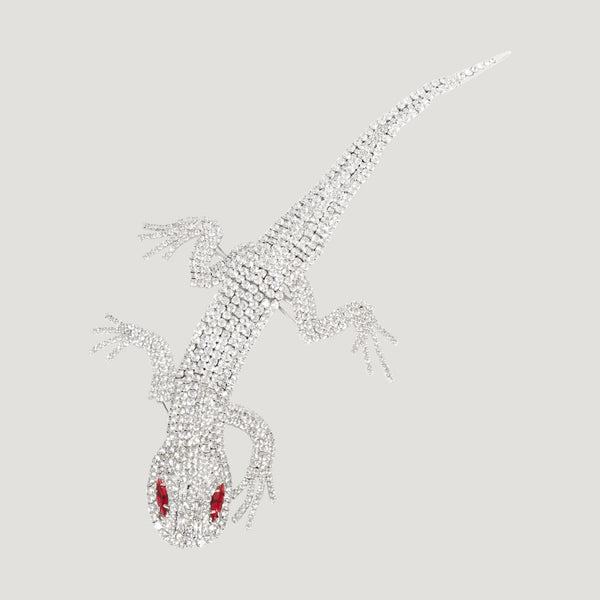 Crystal Lizard Brooch