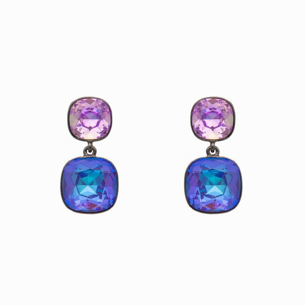 Two Glass Crystal Drop Earrings