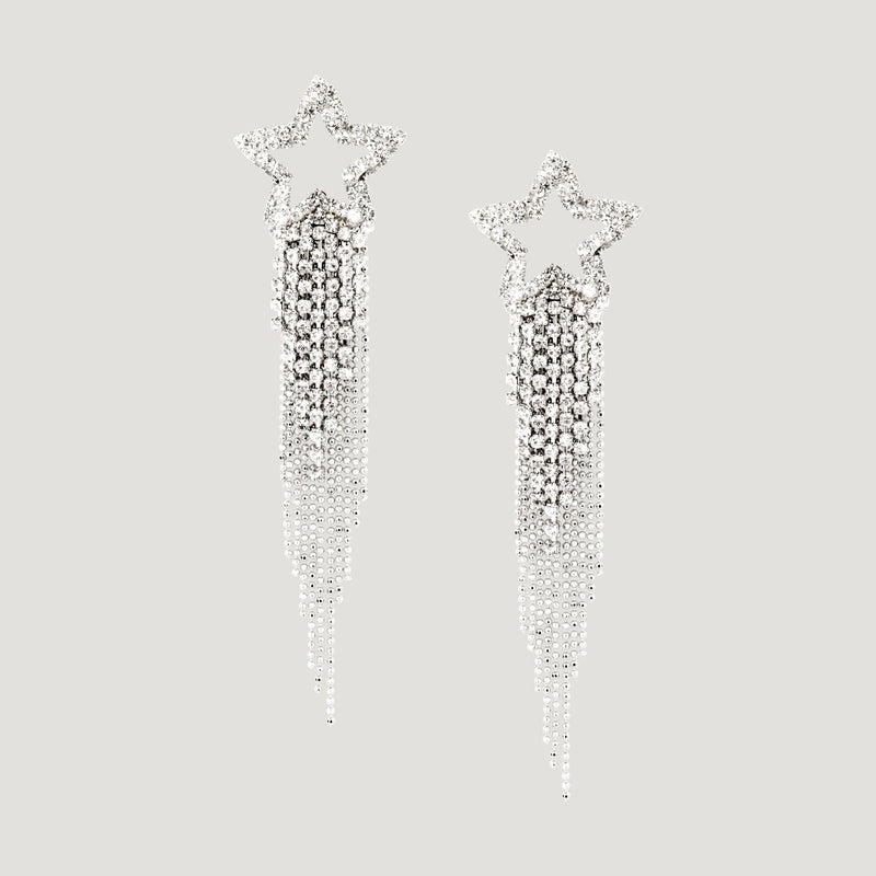 Crystal Star Shower Crystals Earrings