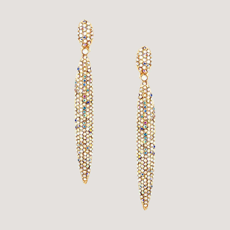 Crystal Pointed Drop Earrings