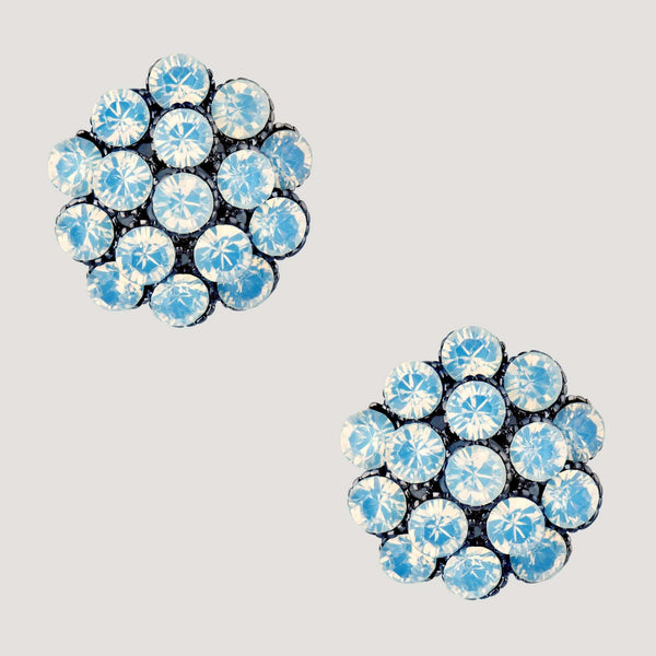 Cluster Crystals Stud Earrings