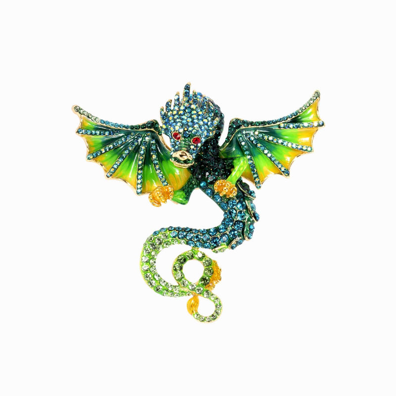 Fierce Crystal Dragon Ring