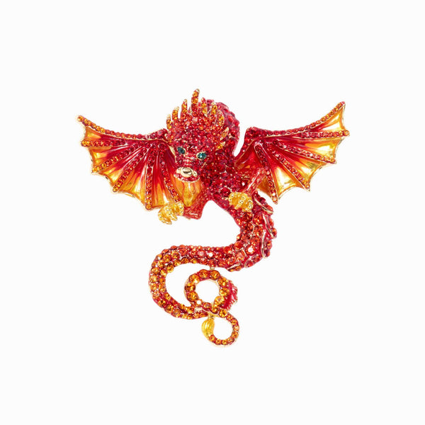 Crystal Chinese Dragon Adjustable Ring