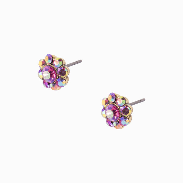 Small Crystal Flower Stud Earrings