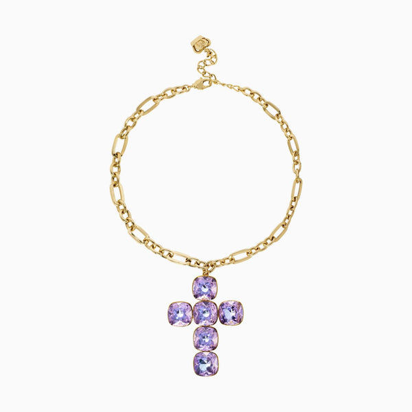 Crystal Cross Chain Necklace