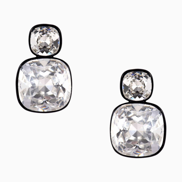 Two Piece Cut Glass Earrings