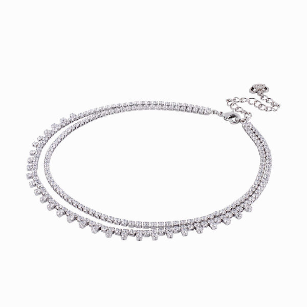 Two Strands Crystal Choker