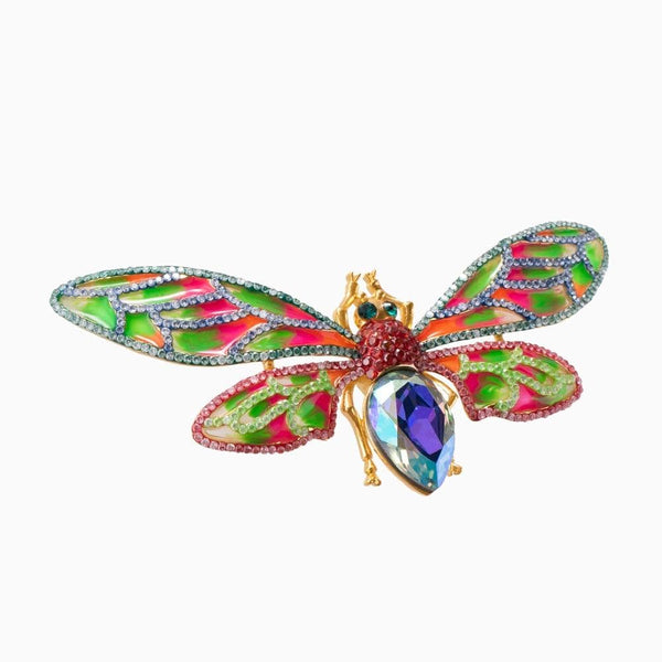 Crystal Moth Brooch