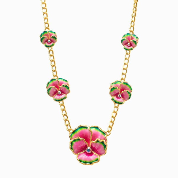 Graduated Pansy Necklace