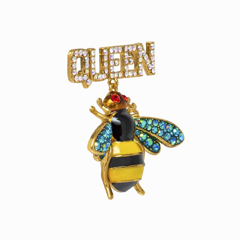 Crystal Queen Bee Brooch