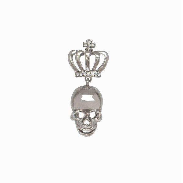 Miniature Skull & Crown Clutch Pin Brooch