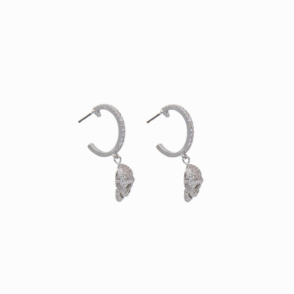 Crystal Skulls Mini Hoop Earrings