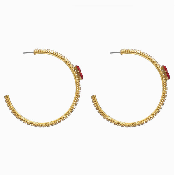 Crystal Lip Hoop Earrings
