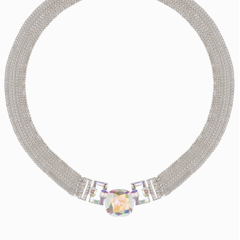 Crystal Art Deco Multi Chain Necklace