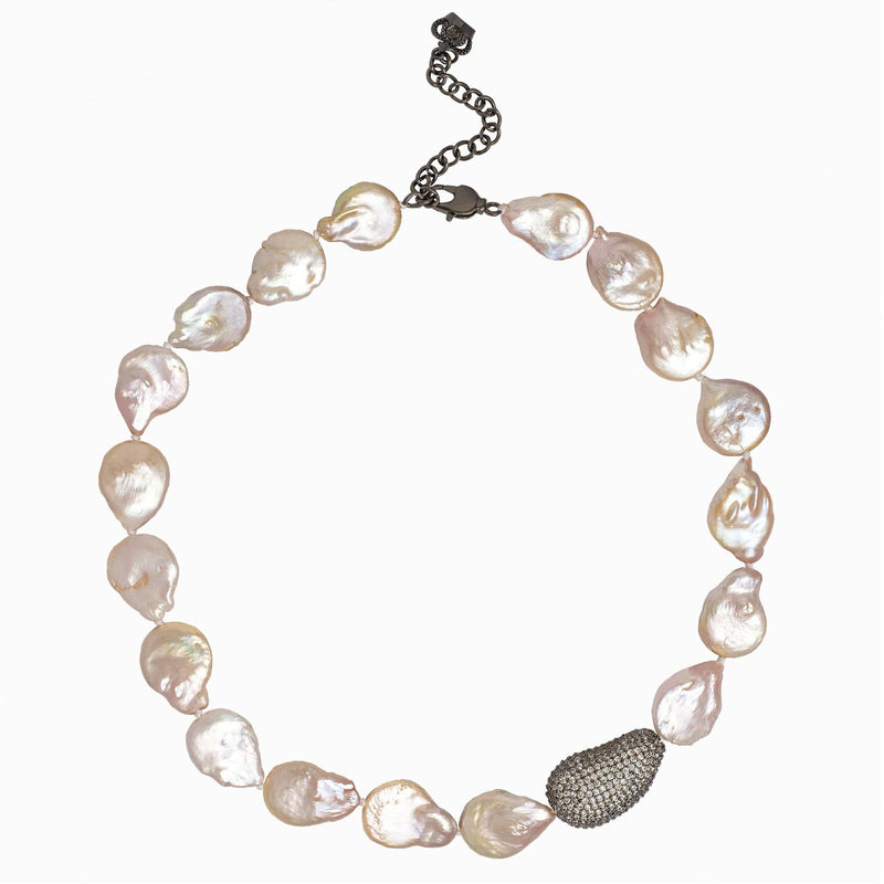 Baroque Pearl and Crystal Necklace