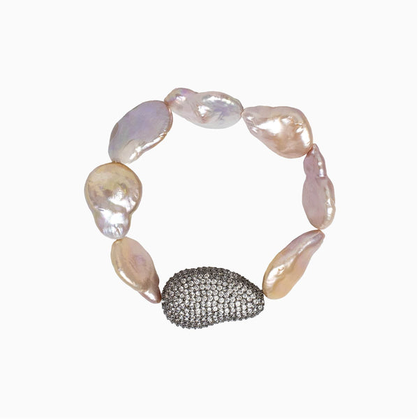 Baroque Pearl and Crystal Bracelet
