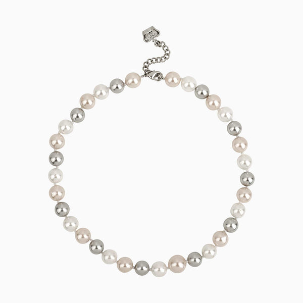 White Round Pearls Short Necklace