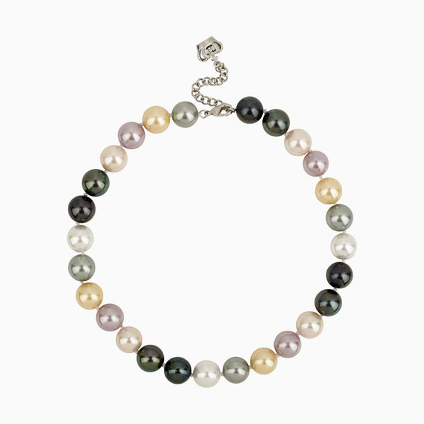 Multicoloured Pearls Short Necklace