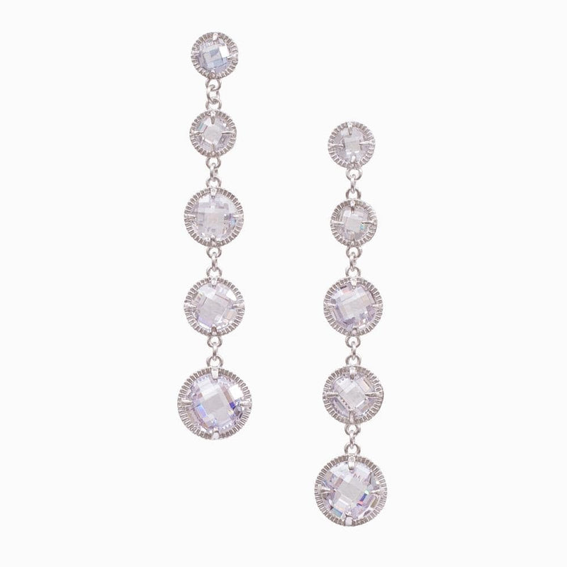 Five Crystal Drops Earrings