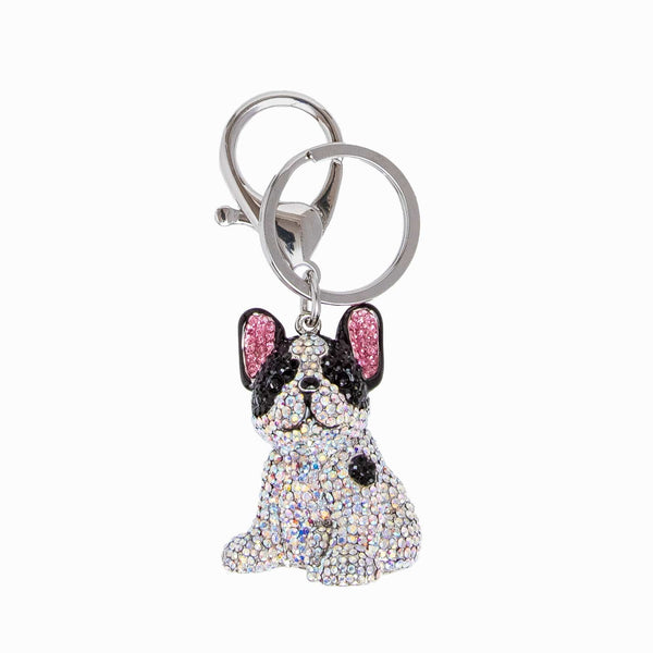 Crystal French Buldog Keyring