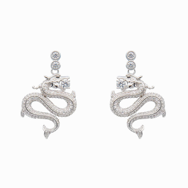 Infinity Dragon Swarovski Pendant Earrings
