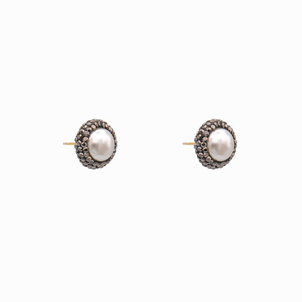 Centre Pearl and Crystal Earrings