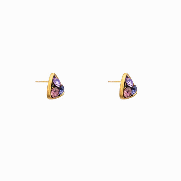 Triangle Shape Crystal Earrings