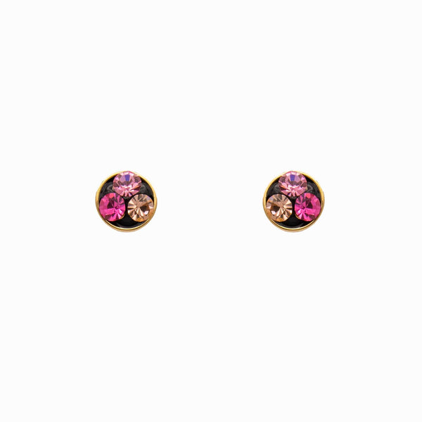 Circle Crystal Stud Earrings