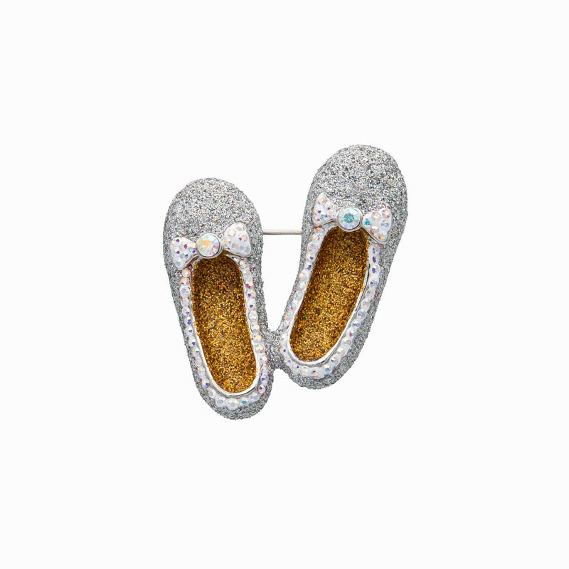 Glitter Dorothy Shoes Brooch