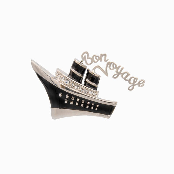 Bon Voyage Cruise Ship Brooch