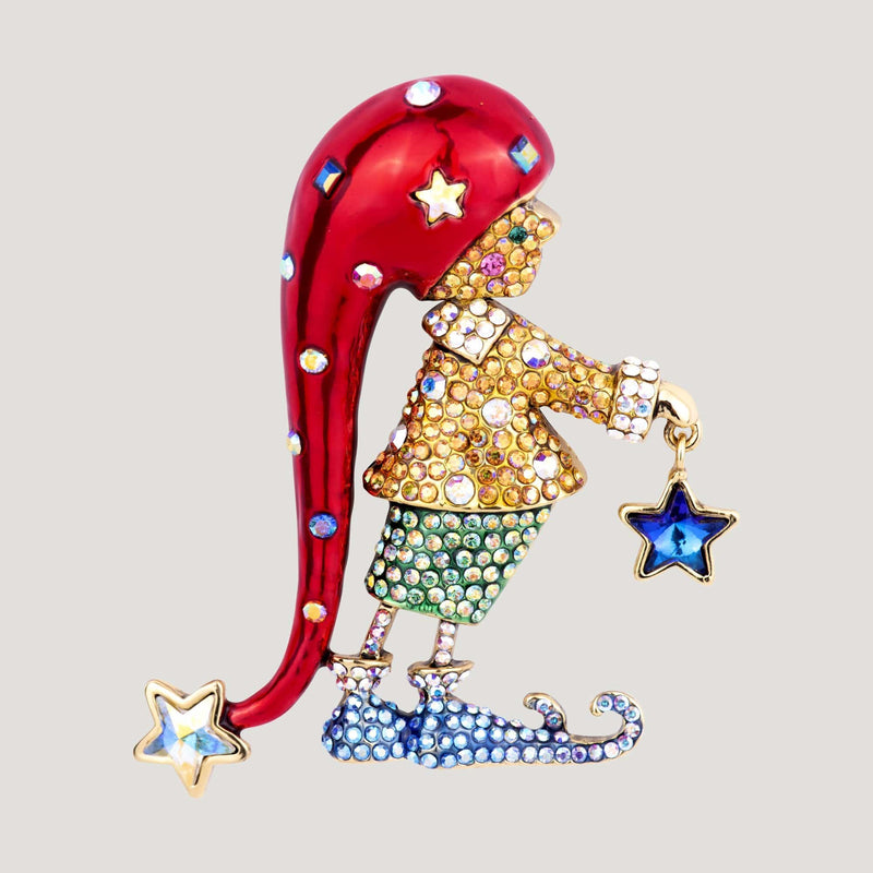 Crystal Elf with Star Brooch