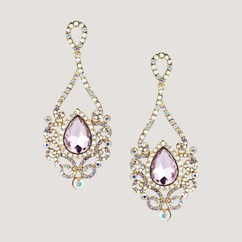 Crystal Swirls Drop Earrings