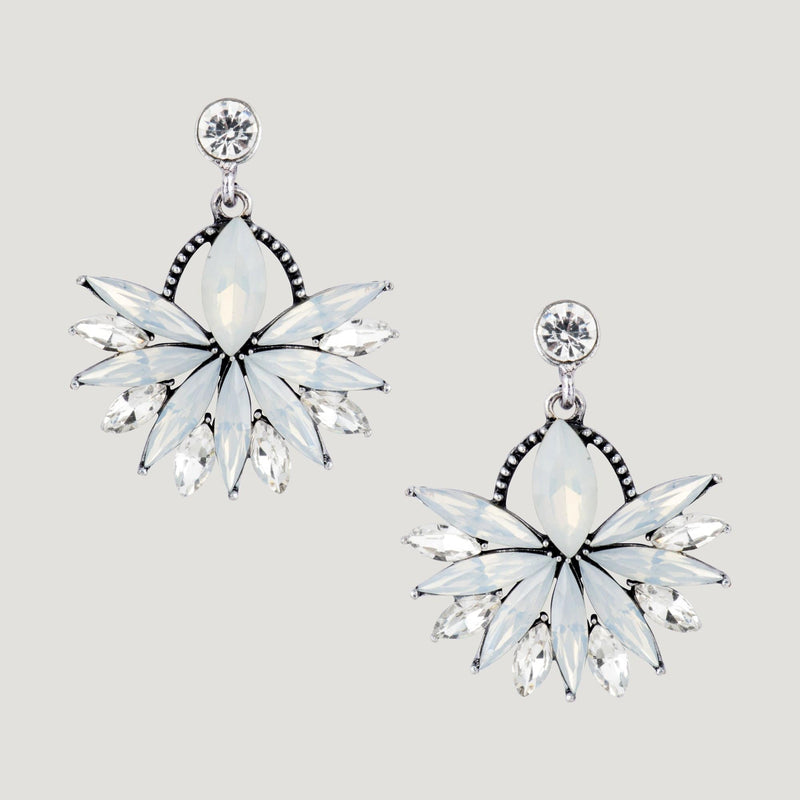 Spike Crystals Drop Earrings