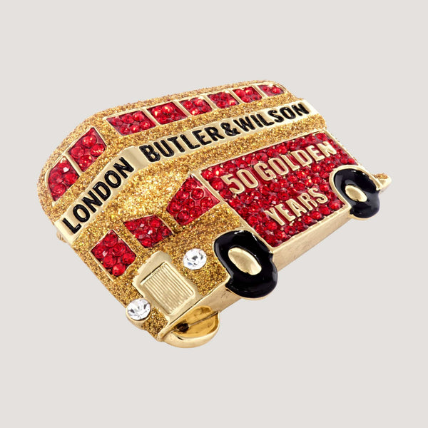 London Bus 50 Golden Years Brooch