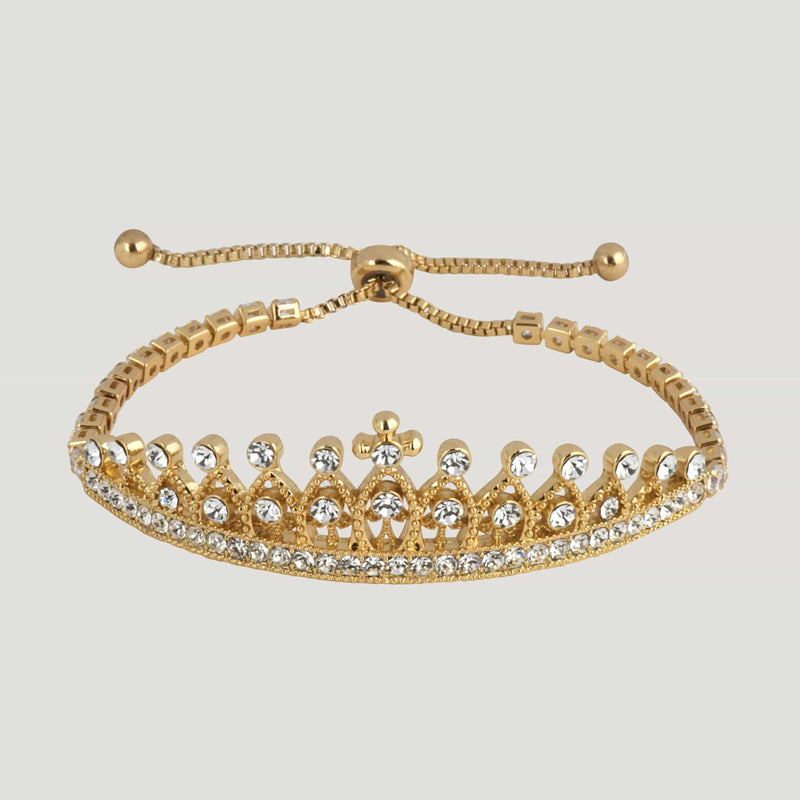 Crystal Crown Adjustable Bracelet