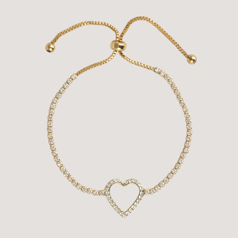 Crystal Delicate Heart Adjustable Bracelet