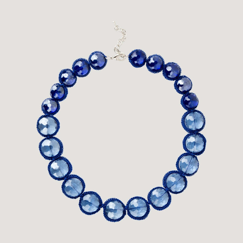 Circle Cut Glass Necklace