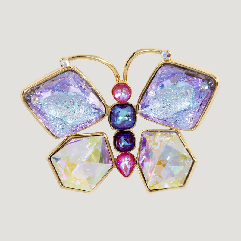 Large Crystals Butterfly Brooch