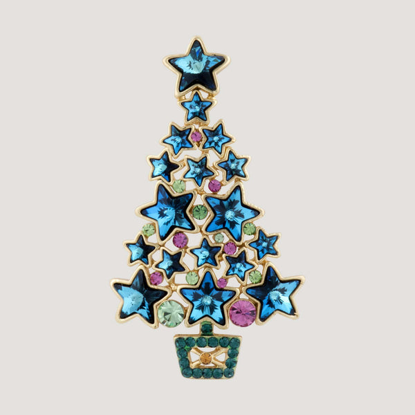 Christmas Star Tree Brooch