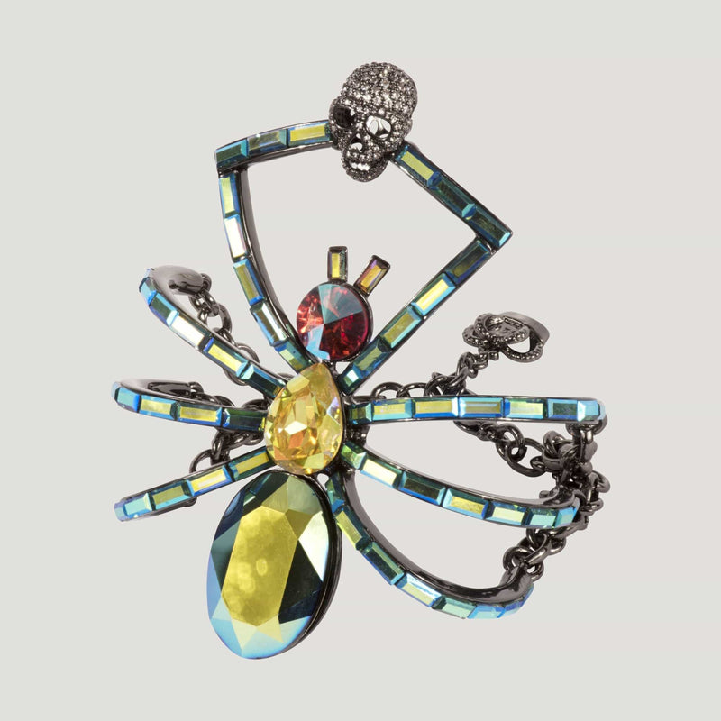 Crystal Spider with Skull Bracelet