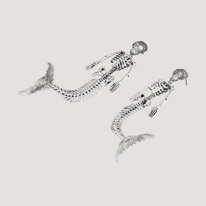 Skull Mermaid Earrings
