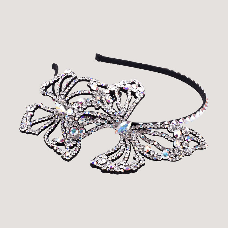 Two Crystal Butterflies Hairband