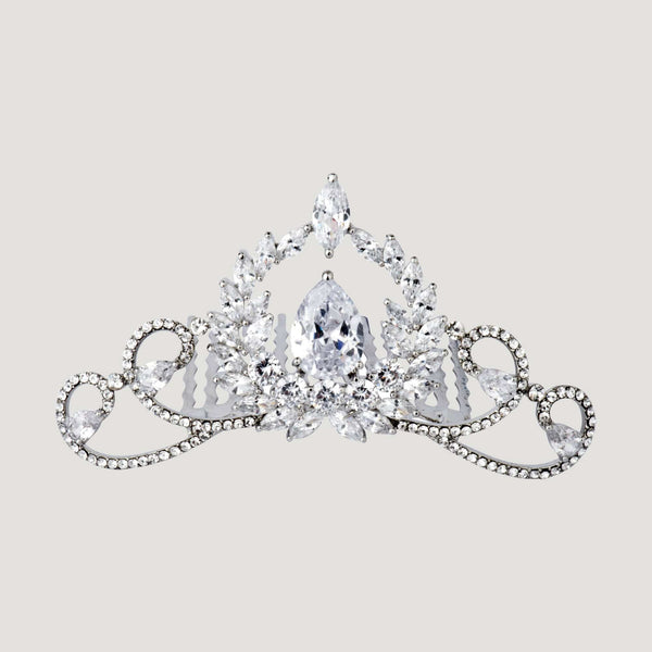 Crystal Teardrop Haircomb