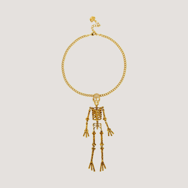 Crystal Skeleton Chain Necklace