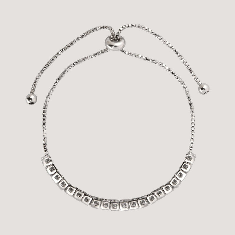 Delicate Crystals On Thin Chain Bracelet